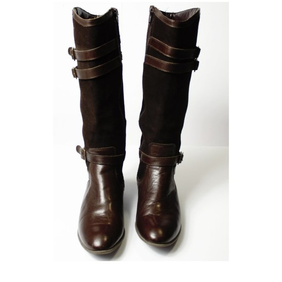 HUSH PUPPIES Brown Low Heel Boots size 6.5